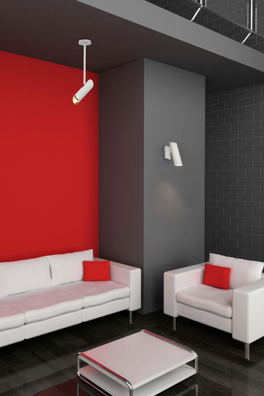 espacios modernos paredes de colores fuertes y vibrantes lmpara de diseo link