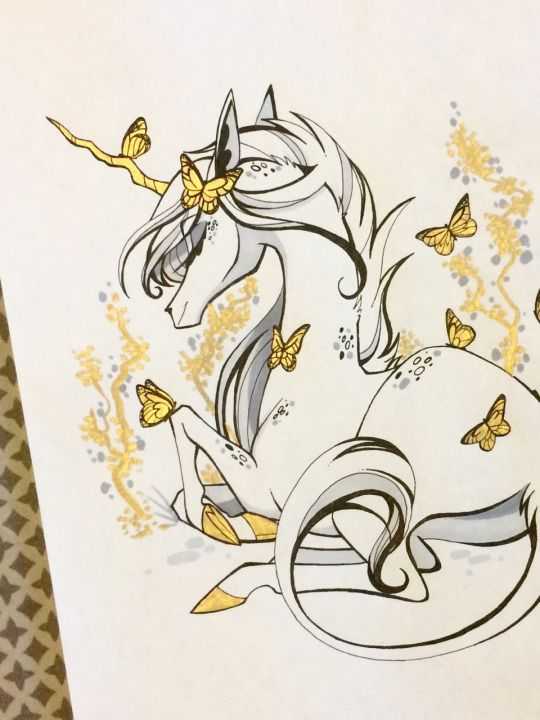Nothing Gold Can Stay Unicorn Drawing Unicorn Art