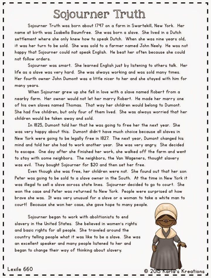 Tolle Sojourner Truth Arbeitsblatt Zeitgenössisch - Arbeitsblätter ...