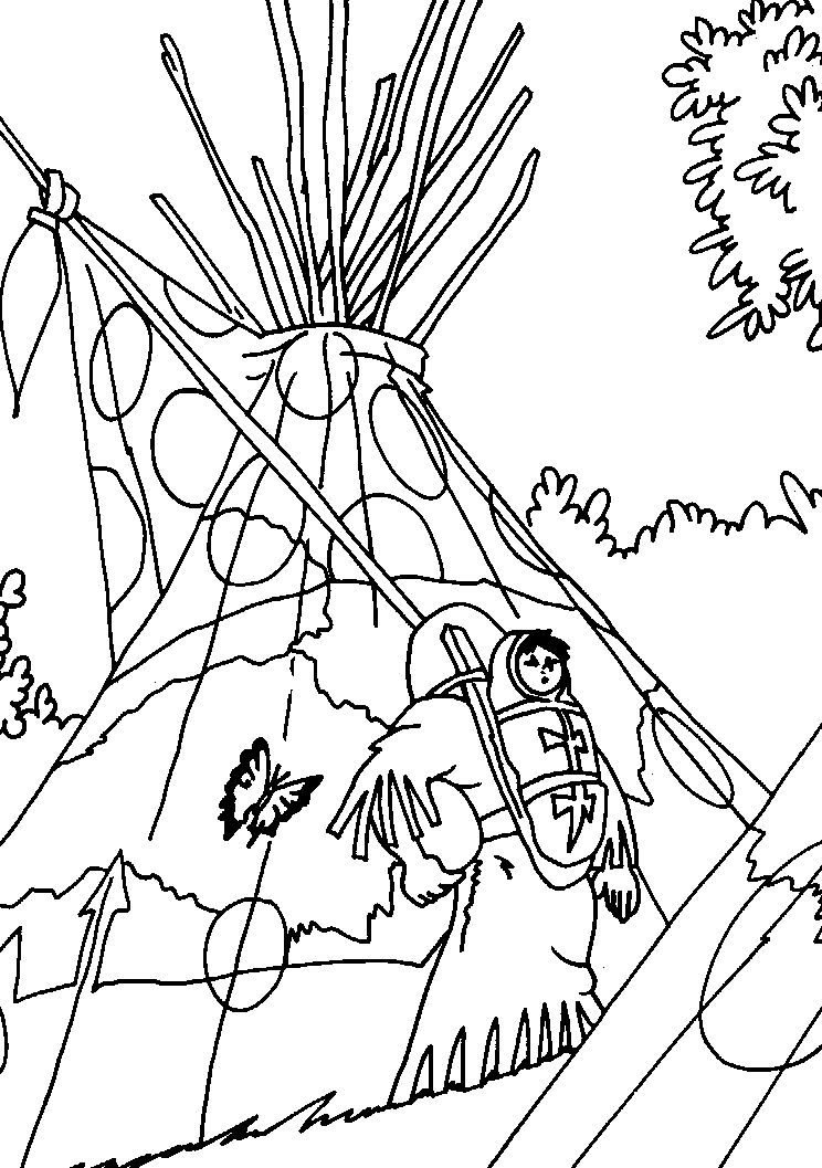 Dibujos para Colorear Yakari 8