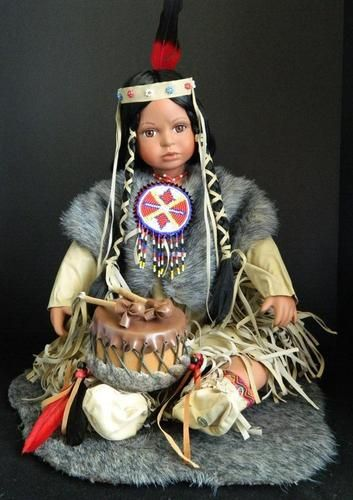 NIB CATHAY COLLECTION NATIVE AMERICAN  LIMITED EDITION PORCELAIN DOLL  808578203201 | eBay #indianbeddoll