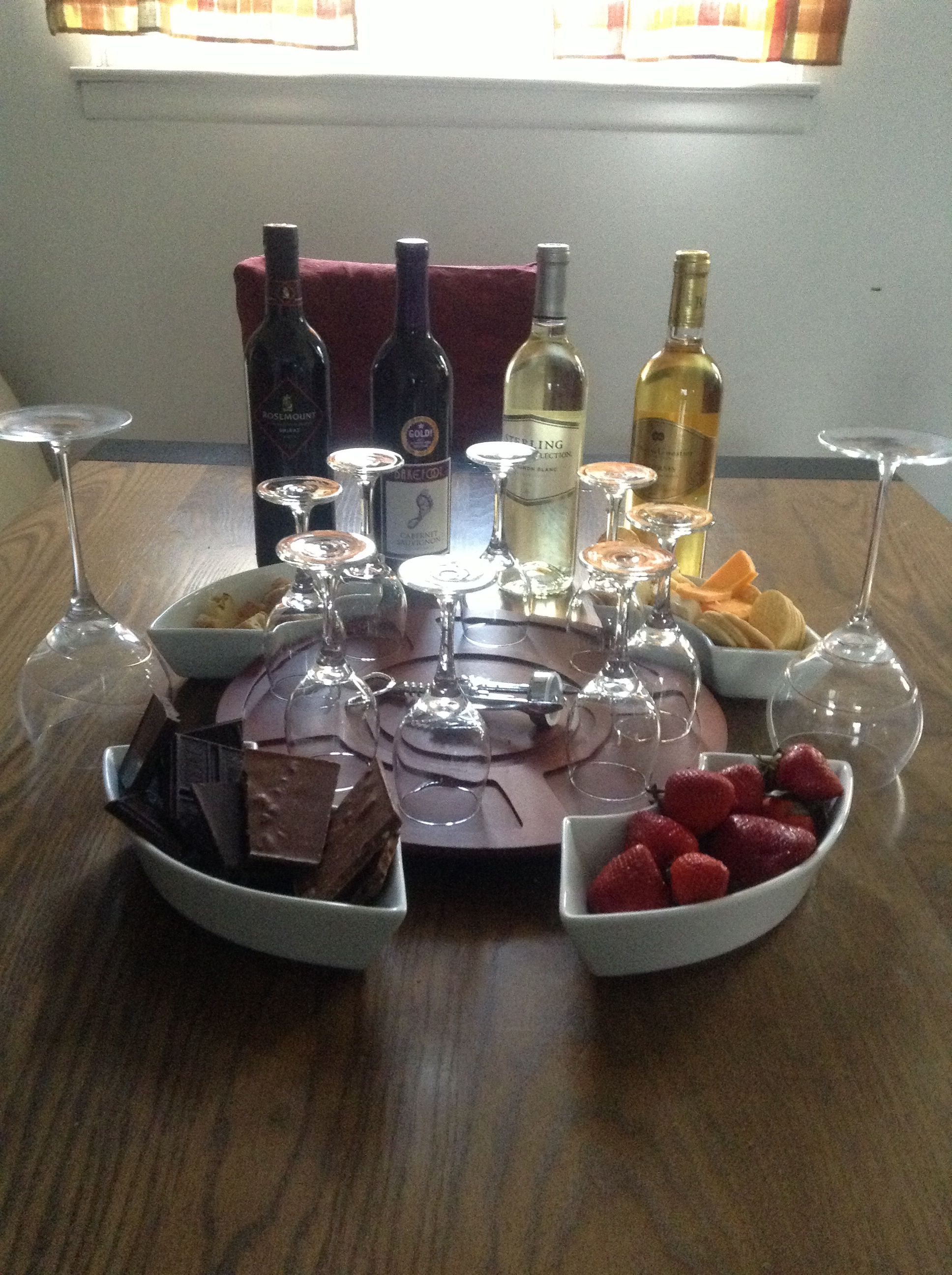DIY Wine tasting and food pairing for a stay at home date night