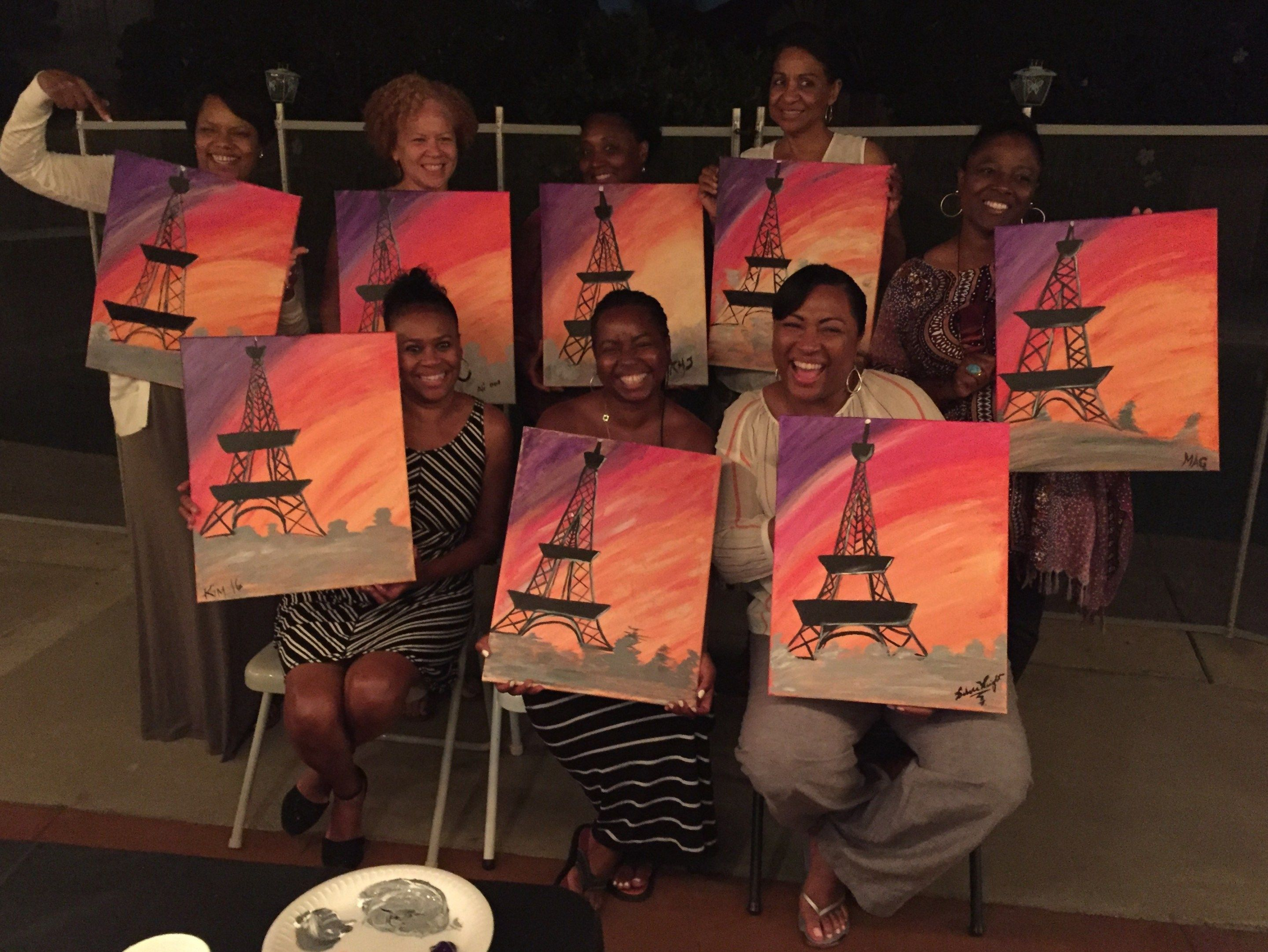 How To Host Your Own Paint And Sip Party Keryb Com Paint And Sip Girls Night Party Art Birthday Party