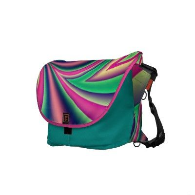 Colourful fractal design commuter bags by imagineallart
