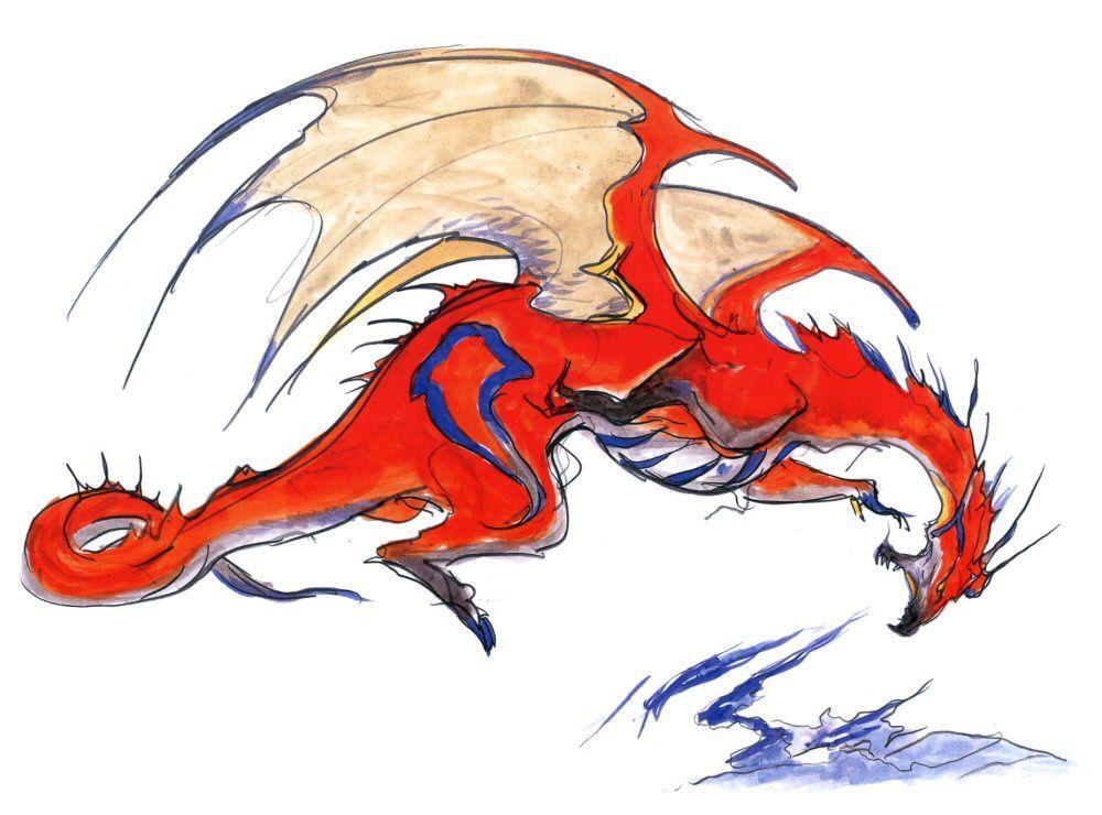Red Dragon Final Fantasy Iv 2d Final Fantasy Iv Final Fantasy Art Final Fantasy