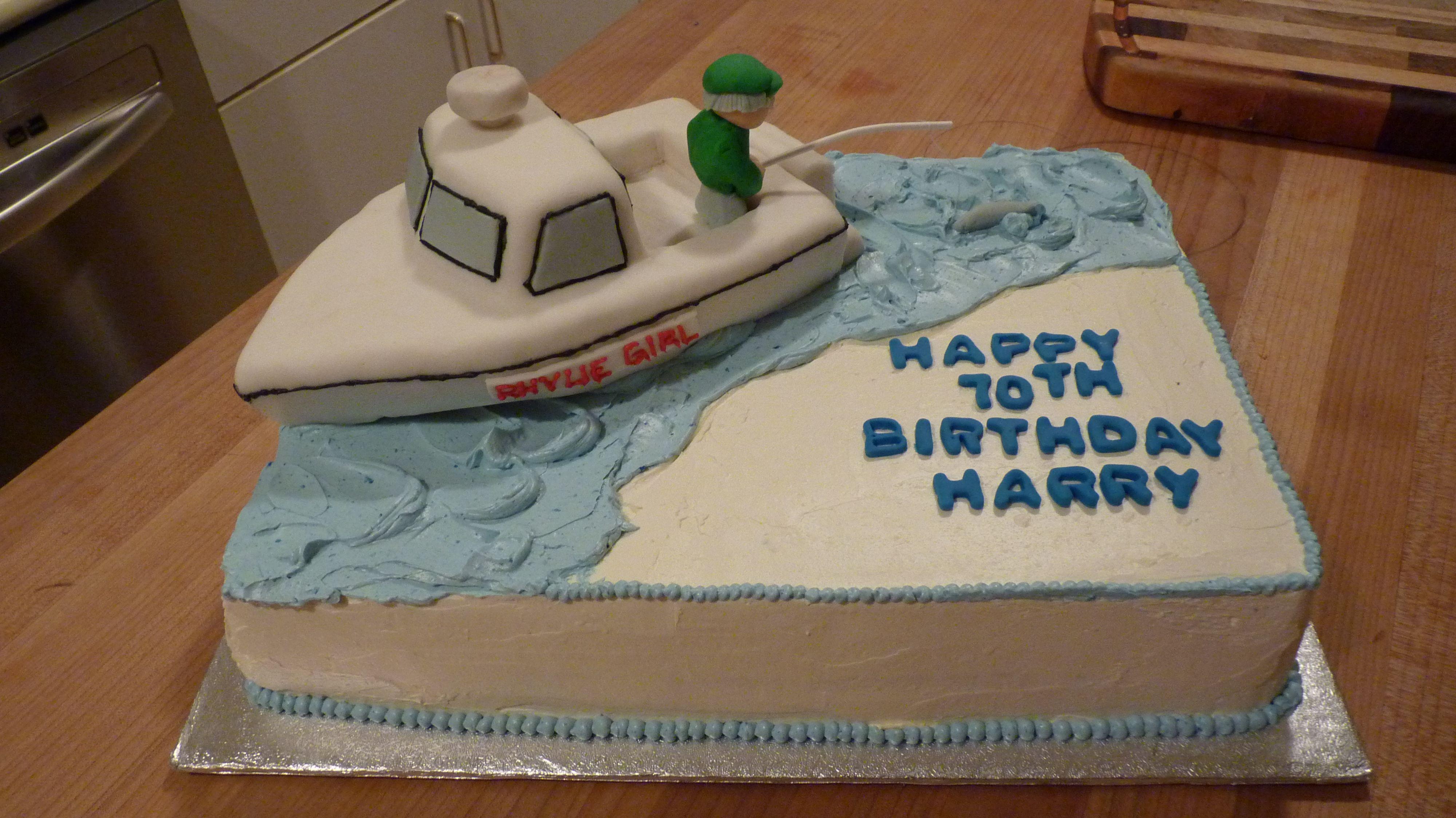 Pin By Cheryl Ellis On Cake Decorating Ideas Cute Birthday Cakes Fish Cake Birthday Grooms Cake Fishing