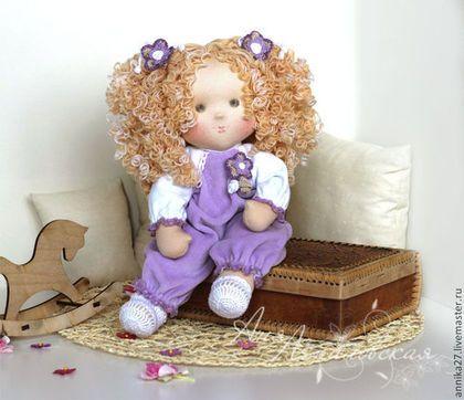 Рисальдинка Юленька - сиреневый,рисальдинка,рисальдина,кукла с крупой