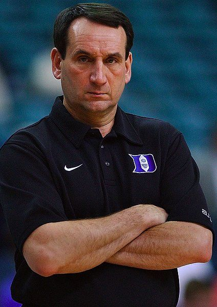 Mike Krzyzewski - I admire coaches and he epitomizes ...