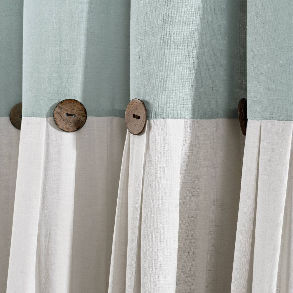 Linen Button Shower Curtain Lush Decor Target In 2020