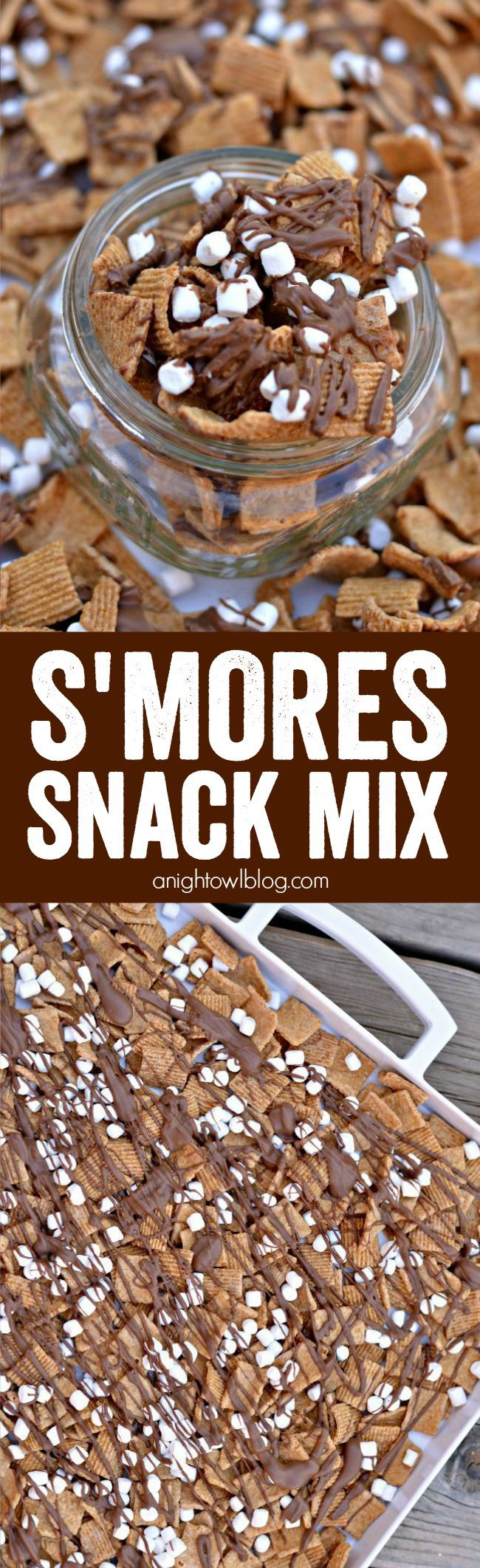 S'mores Snack Mix Recipe Snack mix, Winter snack, Snacks