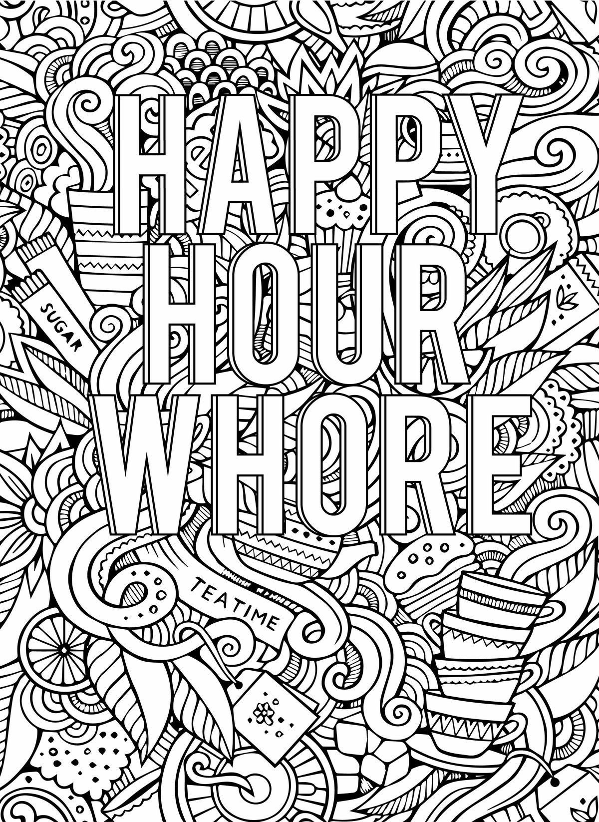 Pin By Julie Cheatham On Colorin Swear Word Coloring Book Words Coloring Book Curse Word Coloring Book