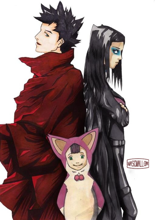 Characters Vincent Law Pino And Re L Mayer Anime Ergo Proxy Technique Markers
