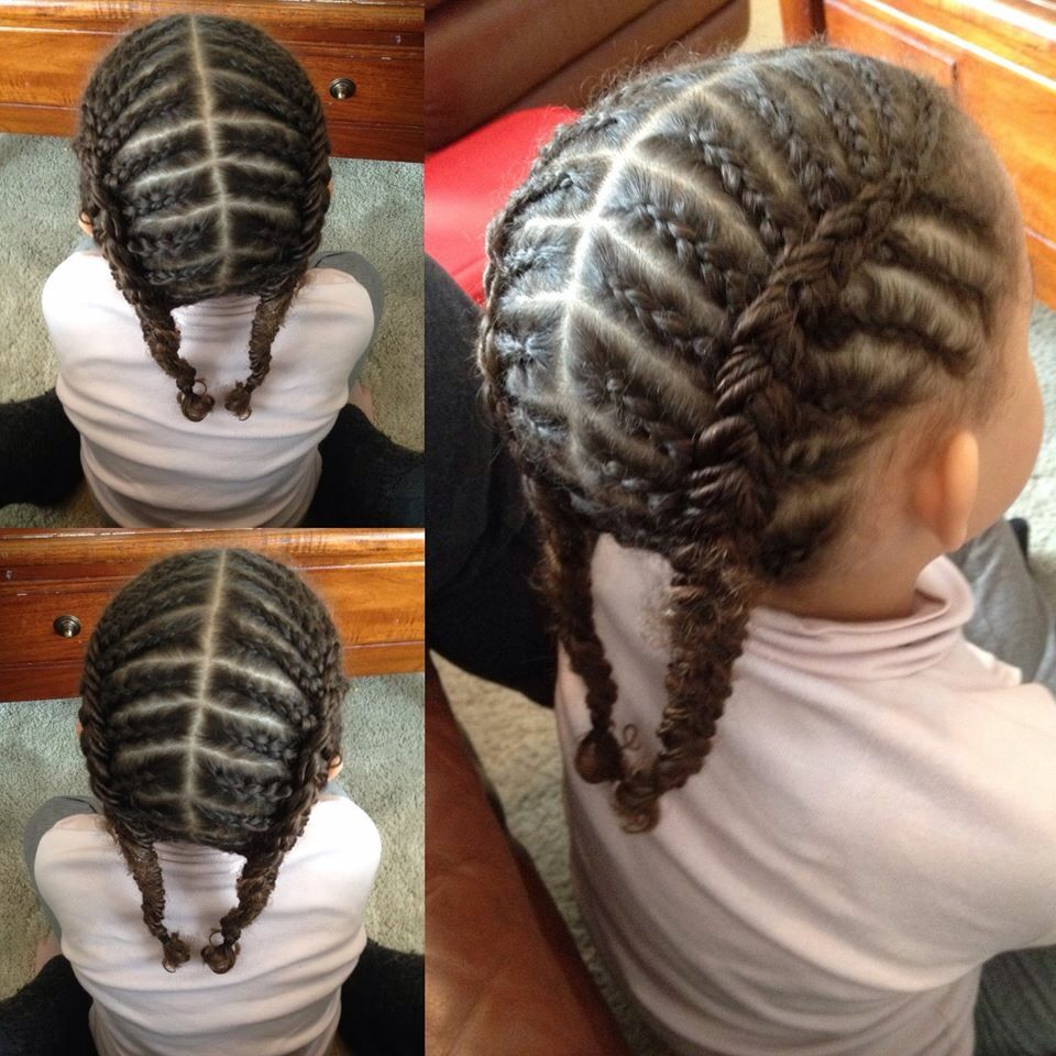 Cute Cornrows Hairstyle For Kids Protectivehairstyles Hairstylesforkids Cute Cornrows Kids Cornrow Hairstyles Kids Hairstyles