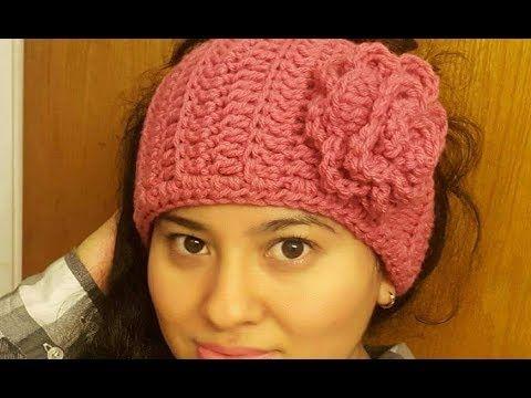 Diadema o banda invernal con en crochet (ganchillo) - YouTube ...