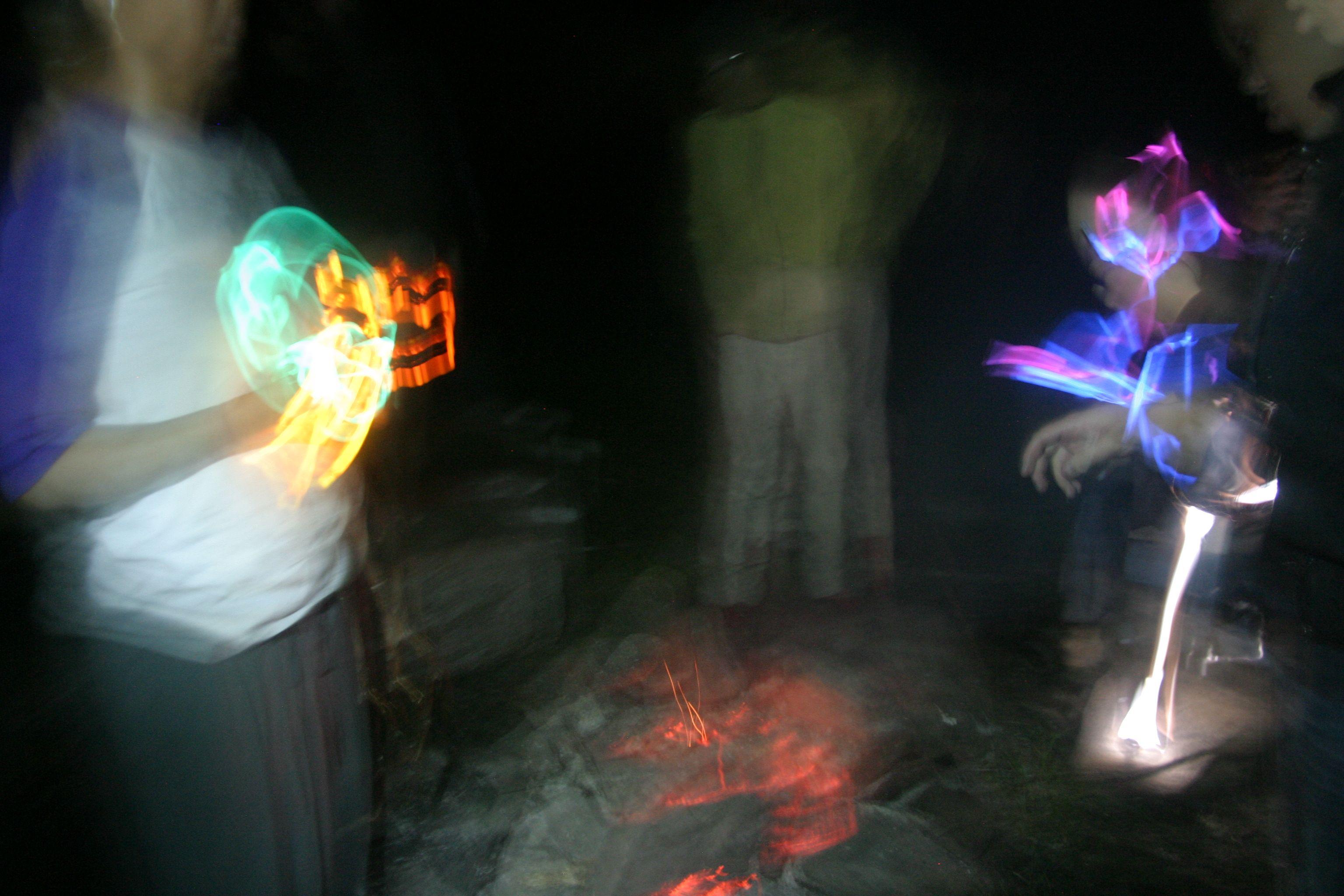 campfire + glowsticks