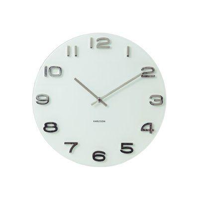 Osgood Round Glass Wall Clock Wall Clock Simple Grey Wall Clocks Contemporary Wall Clock