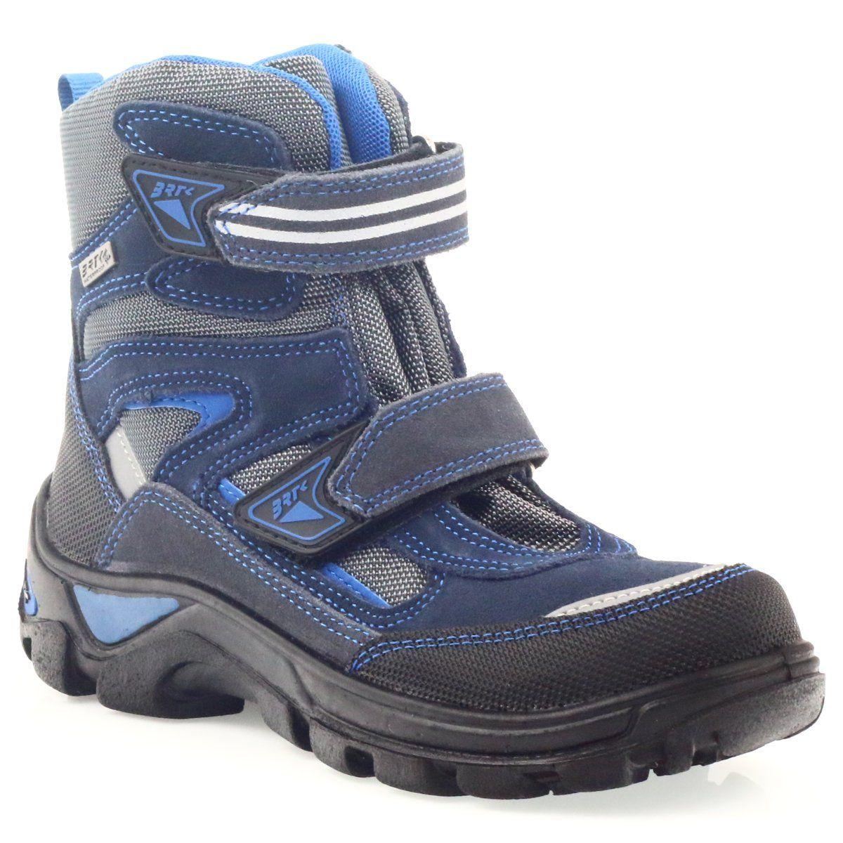 Kozaki Membrana Bartek 44673 Niebieskie Szare Granatowe Boots Hiking Boots Winter Boot