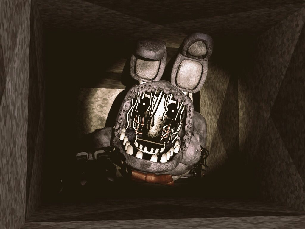 Bonnie from fnaf in vent edited with some color