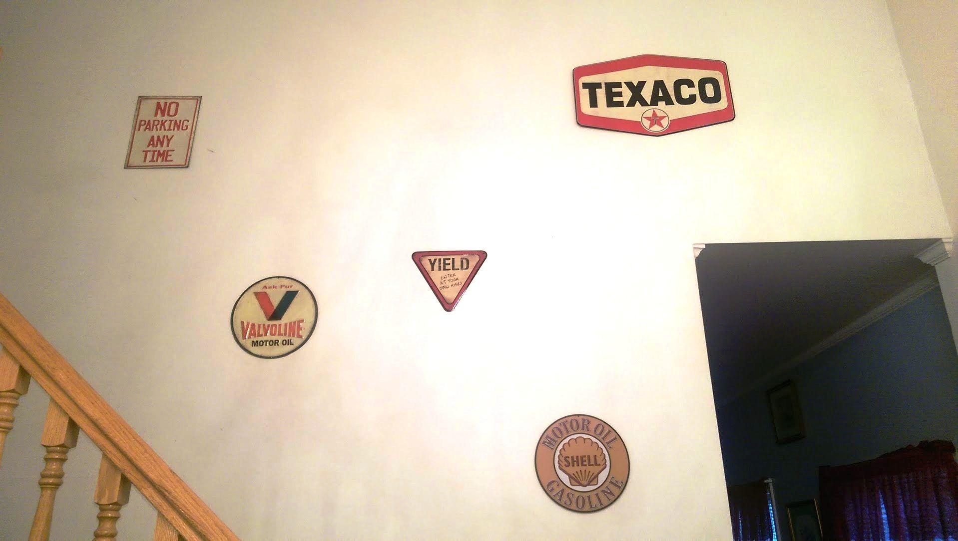 Wall of Metal Signage....brings back memories!