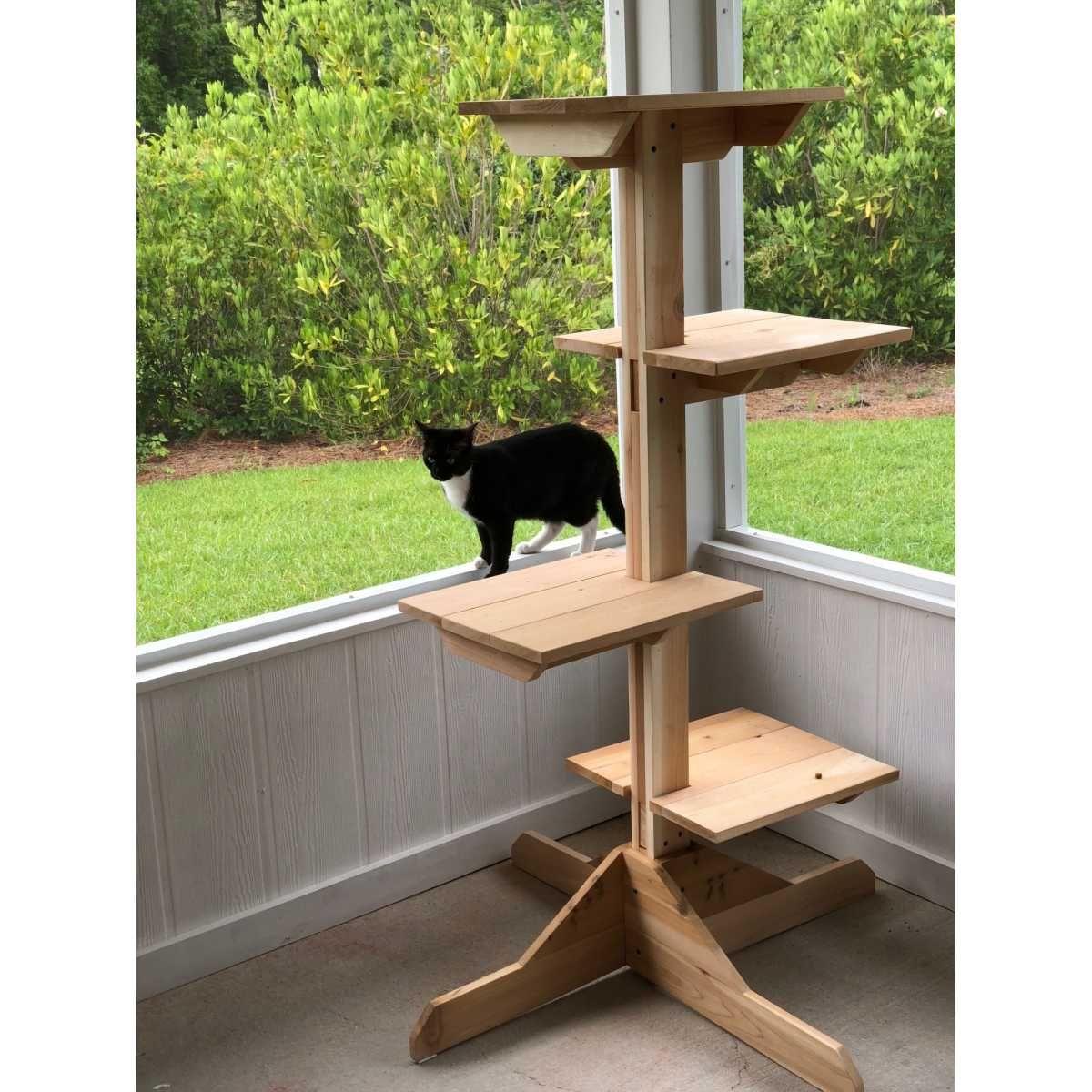 Outdoor (or Indoor) Cedar Cat Tree CatsPlay Superstore