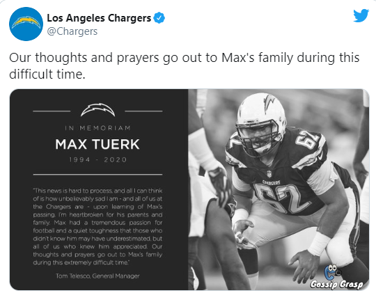 Former Usc And Chargers Lineman Max Tuerk Dies At 26 During Hiking With Family In 2020 Soccer Information Lineman Usc