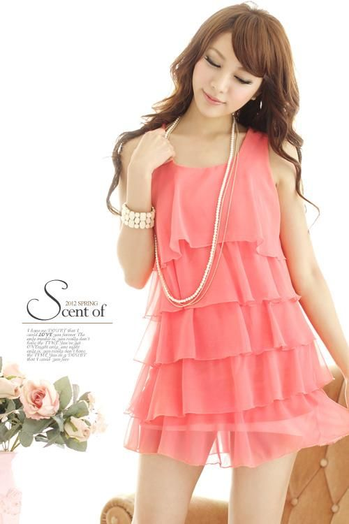 b3901ccb6a1a vestido de chifon casual | vestidos | Vestidos, Vestidos en chifon y ...