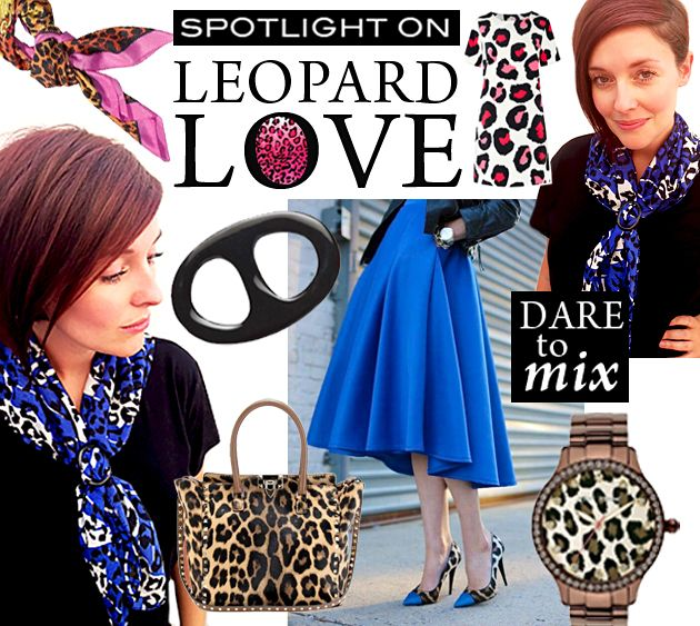Leopard Love with Black Horn Scarf Ring