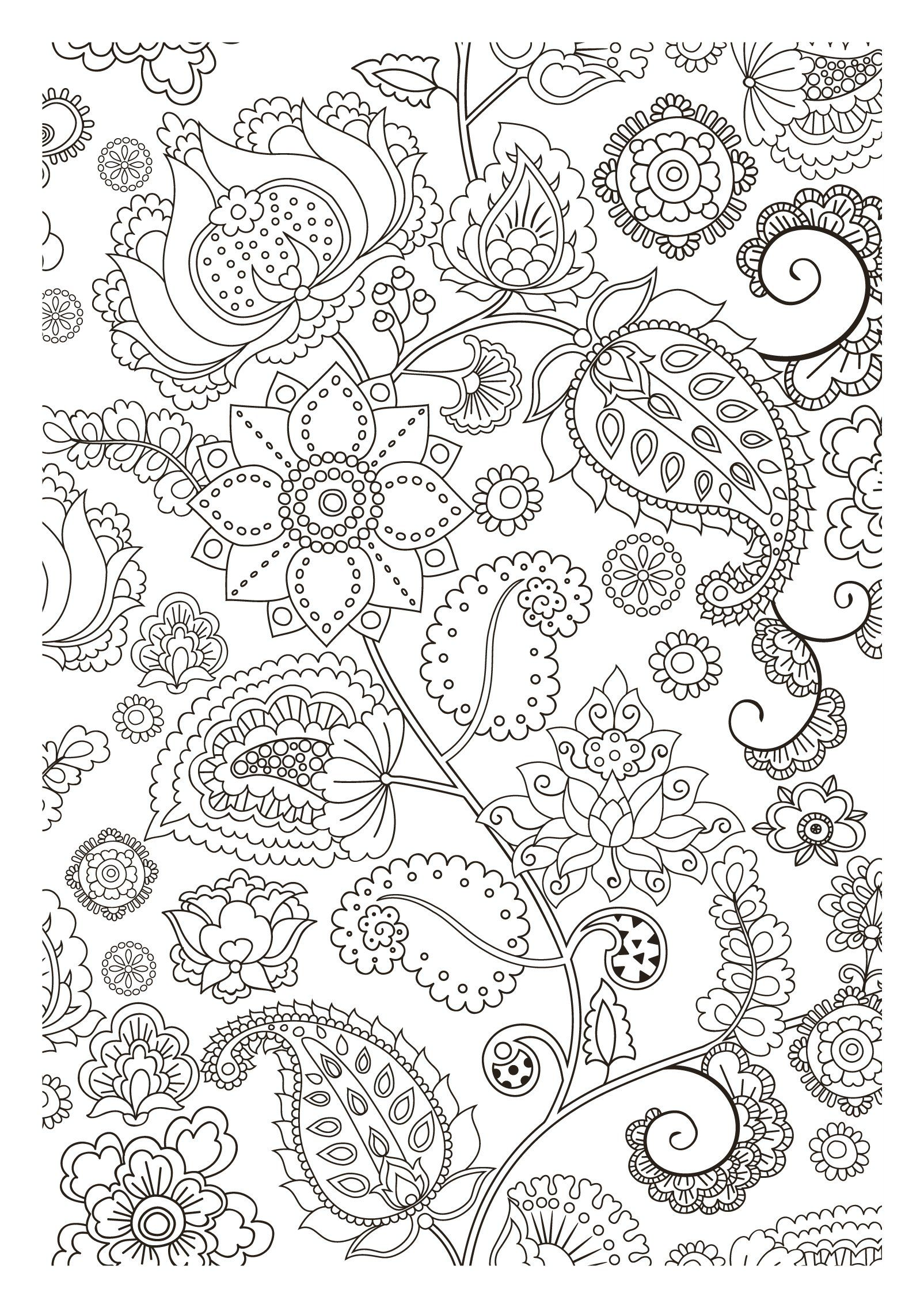 Free Coloring Page Adult Flowers Zen Pretty Strange Letting You Dreaming While
