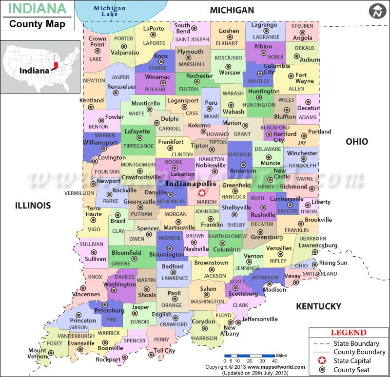 picture relating to Printable Map of Indiana called Indiana County Map Maps inside 2019 County map, Indiana, Map