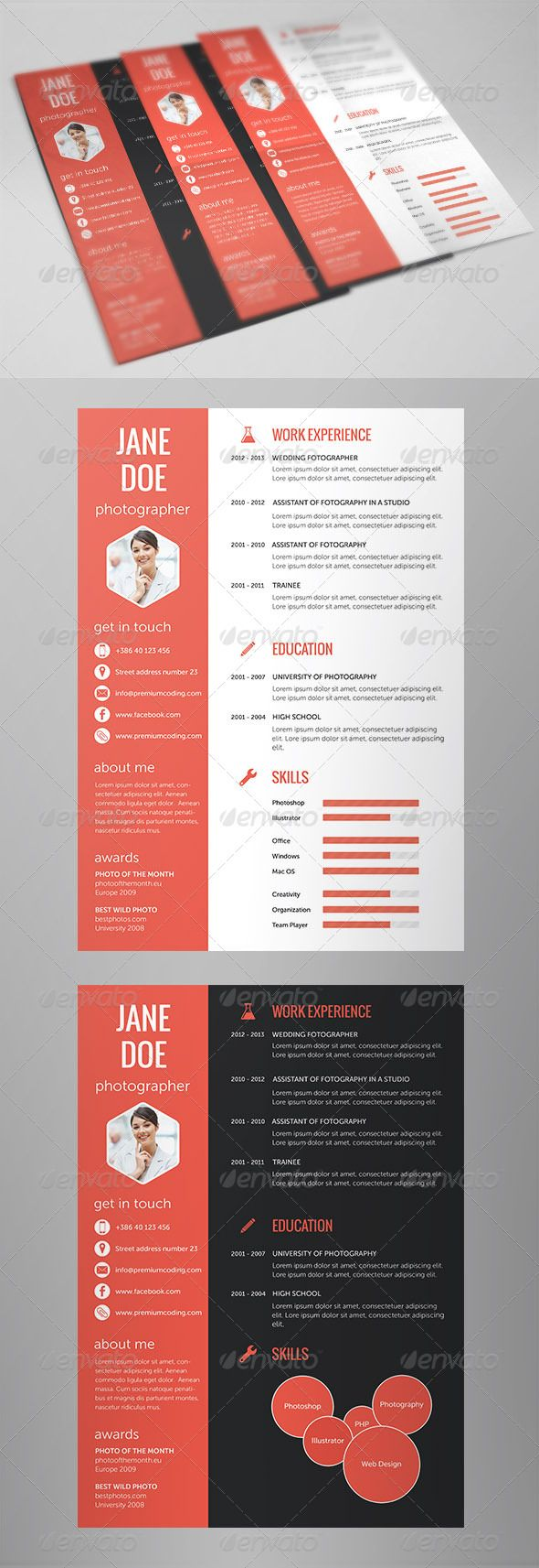 just published a flat design resume which will help you