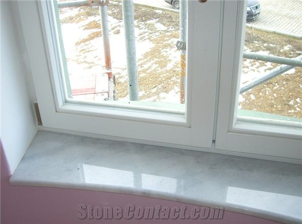 Marble Window Sill Bianco Carrara White Marble From Czech Republic Stonecontact Com Marble Window Sill Tiled Window Sill Window Sill