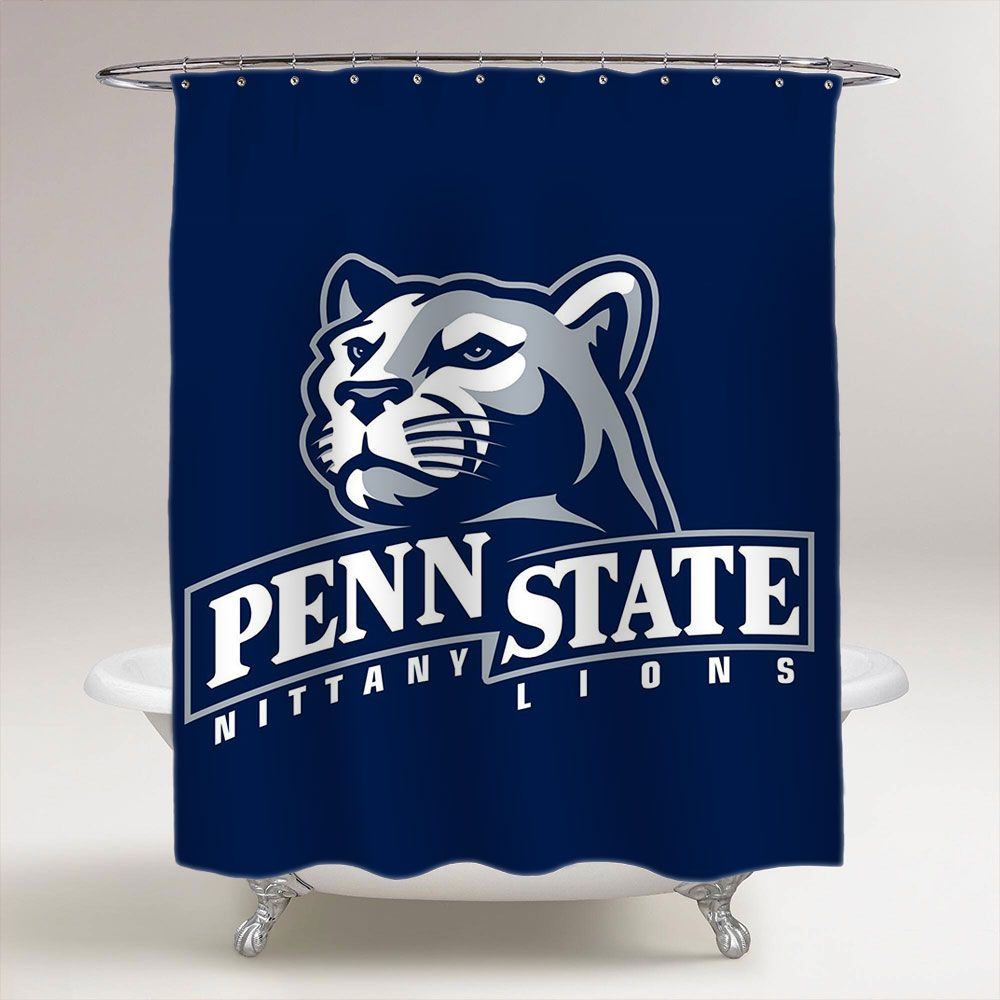 Penn State Nittany Lions Ncaa College Football Bathroom Shower