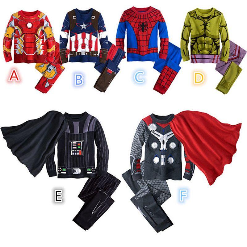 Kid Boy Hulk Costume Pajamas Set Child Superhero Sleepwear Toddler 2Pcs Outfits