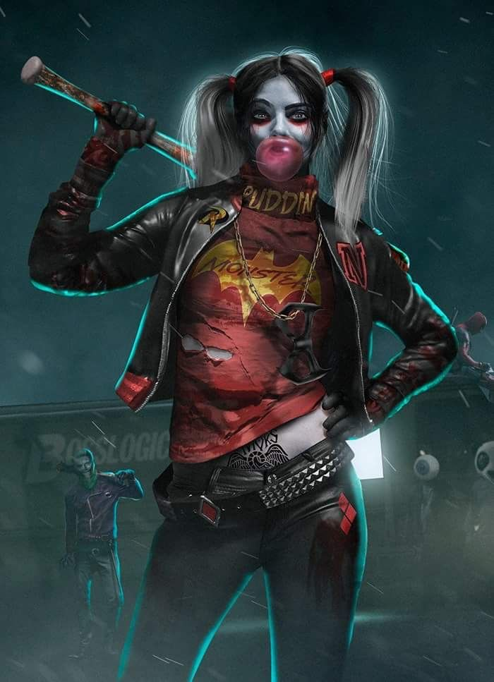 Harley quinn suicide squad the walking dead mash up by bosslogic
