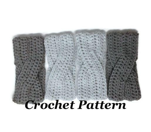 Crochet Pattern Crossover Headband Crochet Winter Headband Pattern