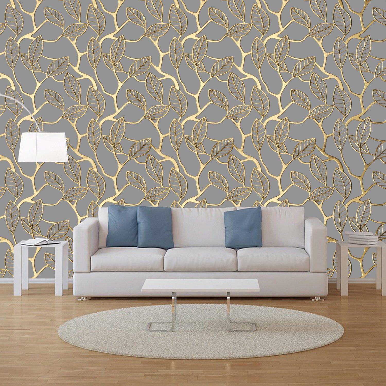 Pin By Adaluz On کاغذدیواری In 2021 Grey Lattice Wallpaper Gold Walls Wallpaper Living Room