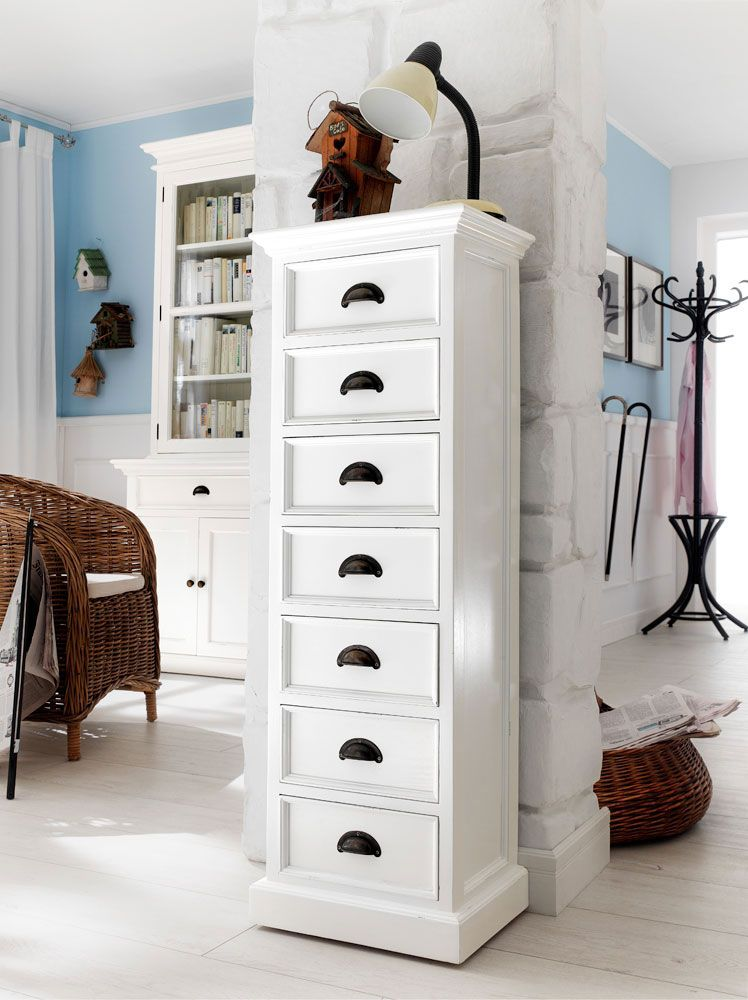Rustic White Painted Wellington Chest Hampshire Furniture