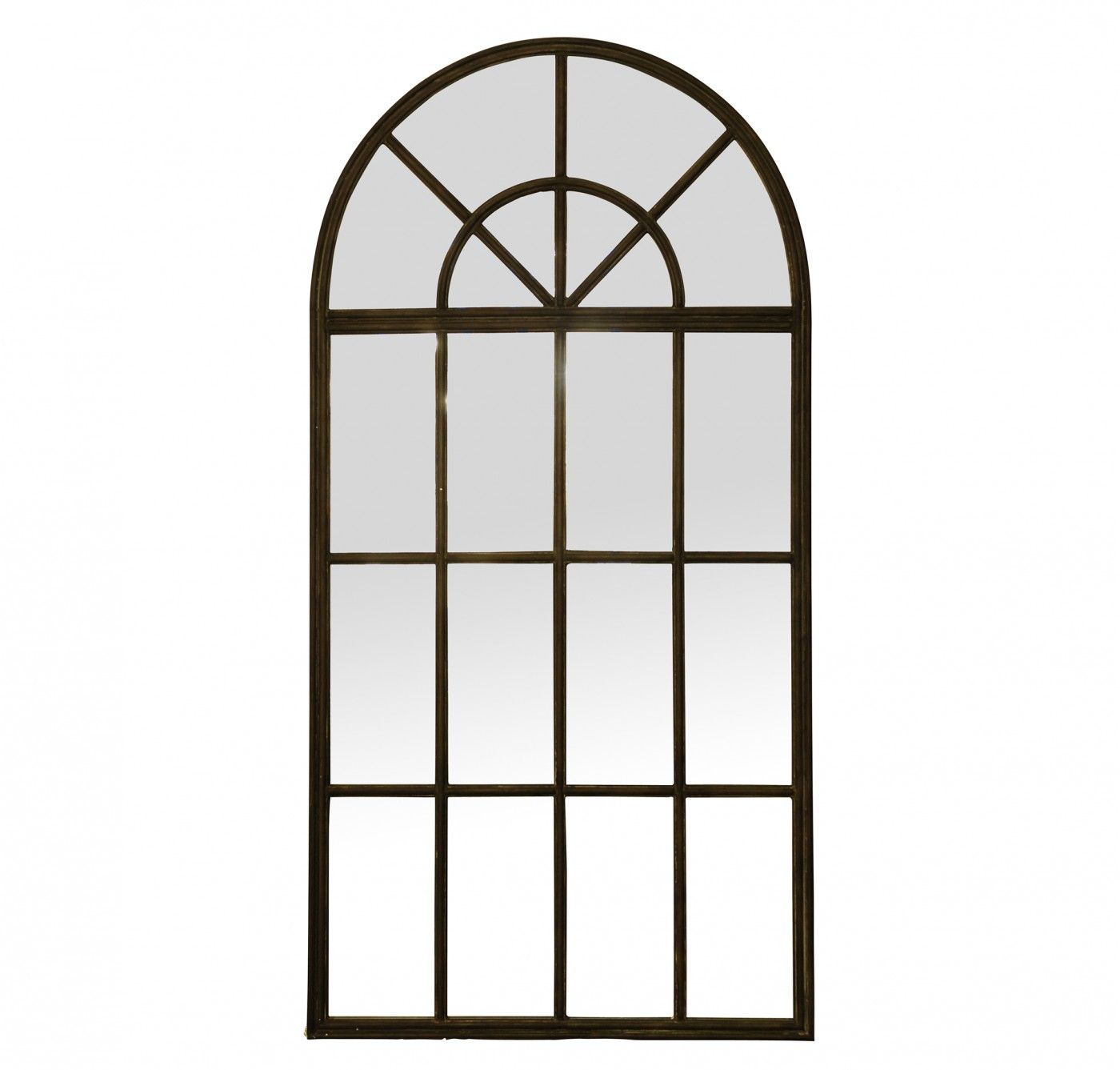Large iron arch mirror arch mirror industrial irons and for Arch window decoration