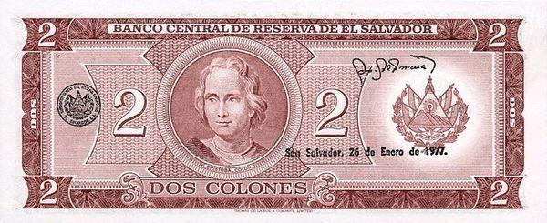 Dinero De El Salvador Colón