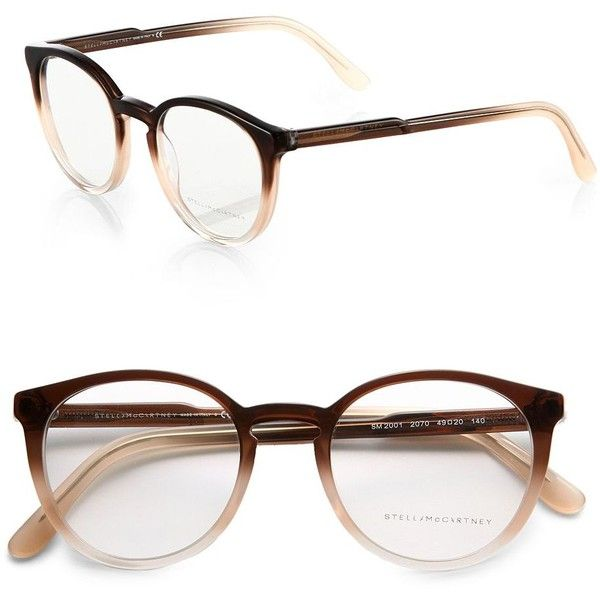 c7c7692cab Stella McCartney Round Optical Glasses ( 230) ❤ liked on Polyvore featuring  accessories