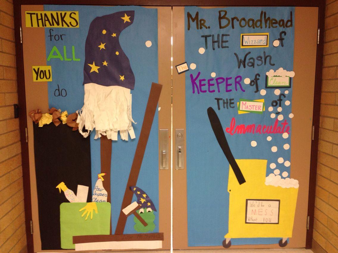 Custodian Appreciation Day door | Teachers' Gifts ...