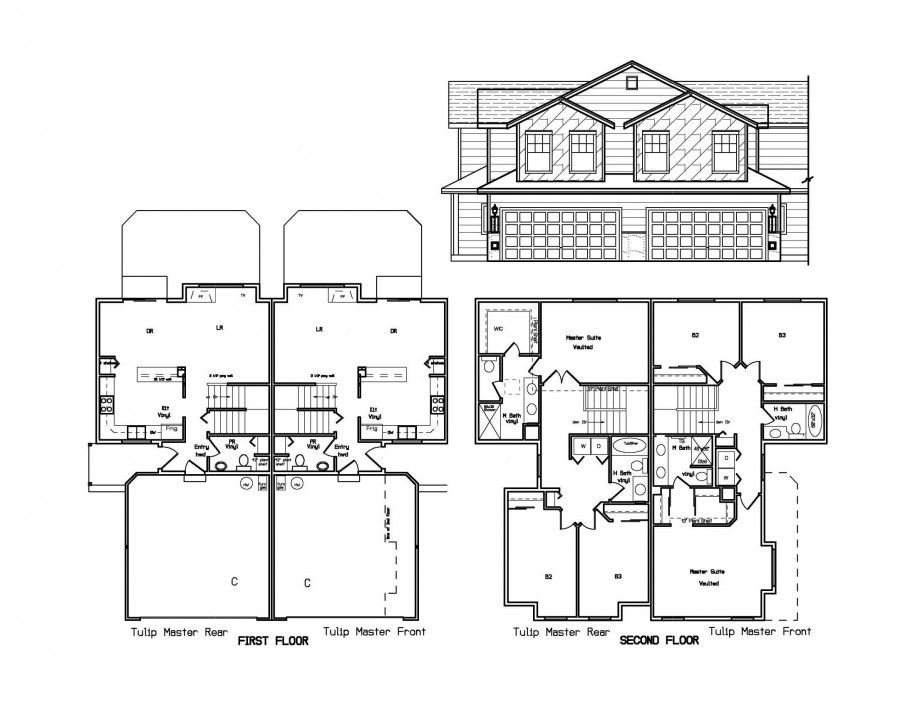 Do It Yourself : Floor Plans In Designing A House : Marvelous Two Levels  Floorplans Pictures