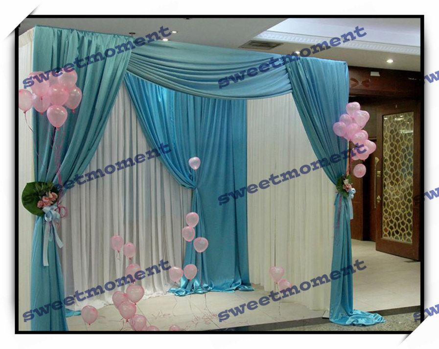 Wedding Canopy Curtain Pipe Structure Backdrop And Reception Stand With Expandable Pole