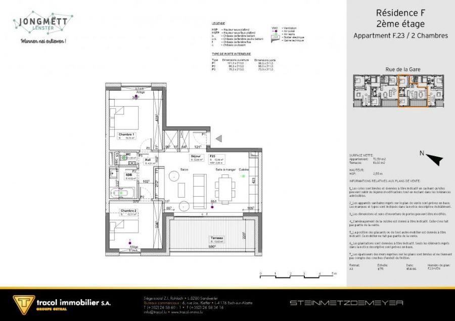 Appartement 224 Vendre 2 Chambres 224 Junglinster Lu R 233 F