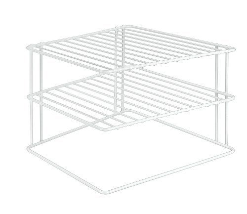 weiß Metaltex 364202095 Silos Eck-Schrankeinsatz 2-Etagen 25 x 25 x 19 cm