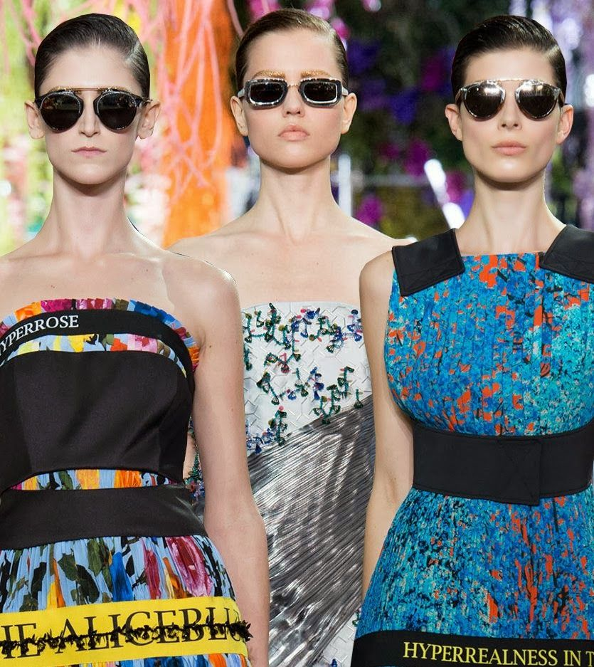 Christian Dior Sunglasses... Spring 2014 Womenswear Christian Dior Spring '14 Runway Show, Paris Fashion Week