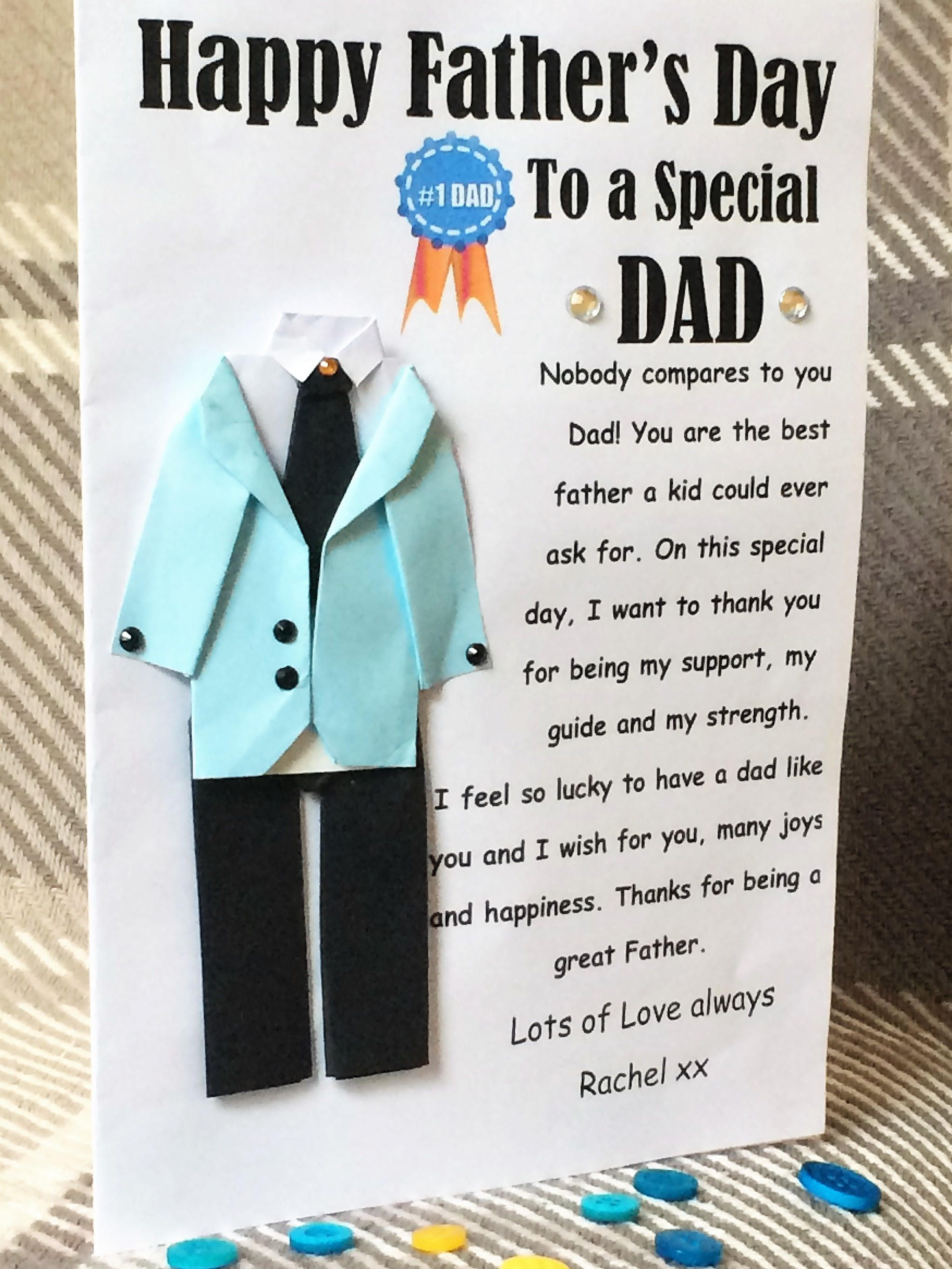 fathers day greeting card origami fathers day dad day