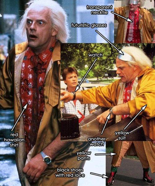Doc Brown Costumes Back To The Future Doc Brown Costume Doc