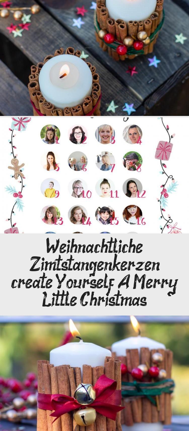 Weihnachtliche Zimtstangen Kerzen Create Yourself A Merry Little Christmas Table Decorations Decor Home Decor