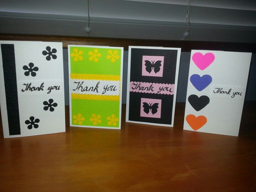 JLK: Quick and easy handmade thank you cards (using different punches and my Cuttlebug)